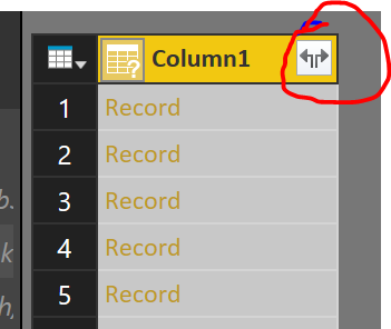 query editor expand button
